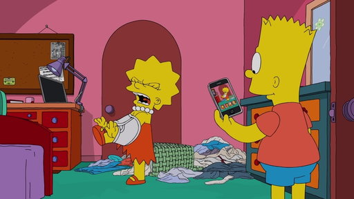 S29E21 Bart Teases Lisa & Post Pictures