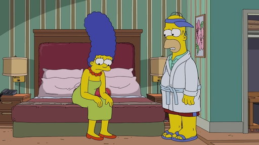 S30E2 Home & Marge Adjust To Hotel Living