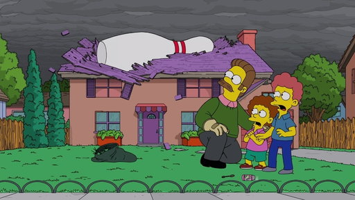 S30E3 Flanders Plays Angel Bowling With The Gods\