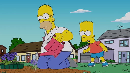 """S30E4 Bart Is Worried About Others Turning Into Zombies from """"Treehouse of Horror XXIX"""""""