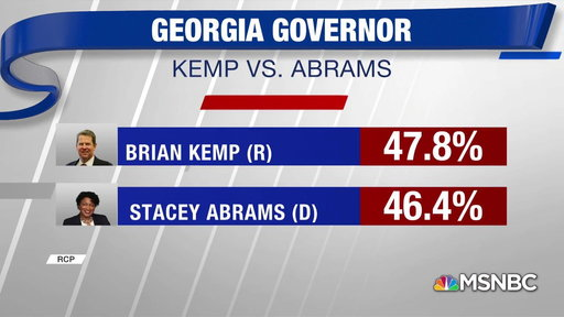S0E0 Georgia Governor race in dead heat