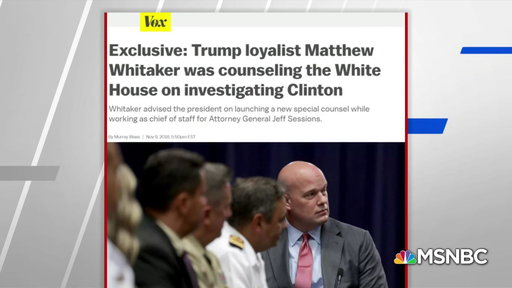 S0E0 Vox: New AG counseled Trump on investigating Clinton