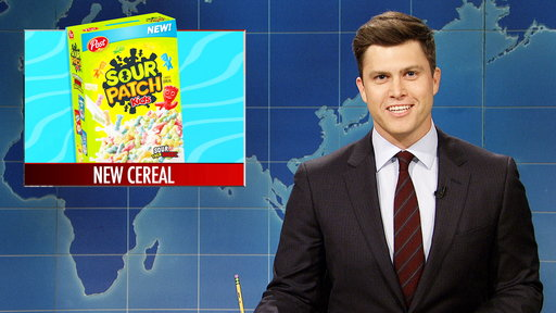 S44E6 Weekend Update: Post Announces Sour Patch Kids Cereal