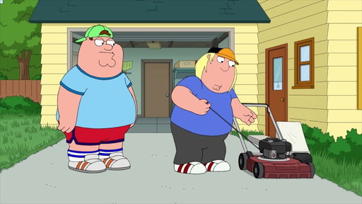 S17E8 Peter Teaches Chris How To Mow The Lawn