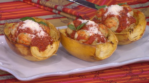 S0E0 How to make low-carb chicken Parm meatballs with spaghetti squash