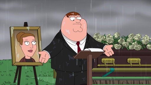 Season 17, Episode #9 Peter Speaks At Angela's funeral Screenshot