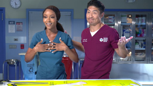 S4E0 Yaya DaCosta & Brian Tee Play a Trivia Surgery Game