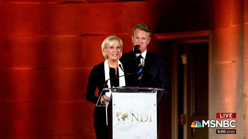S0E0 Joe and Mika attend National Democratic Institute gala