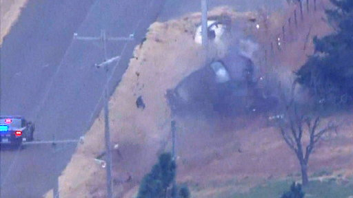 S0E0 Video shows wild police chase ending in car crash