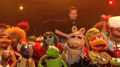 """S6E73 Jimmy and the Muppets Say Goodbye to Late Night (with """"The Weight"""" from the Last Waltz)"""
