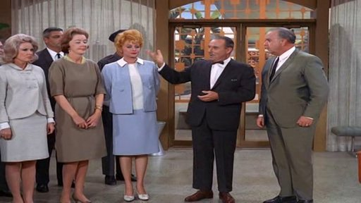S5E13 Lucy and Phil Silvers